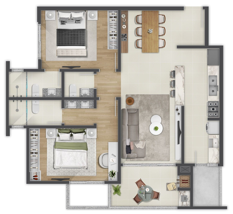 Edifício Douro Planta Apartamento Tipo 02