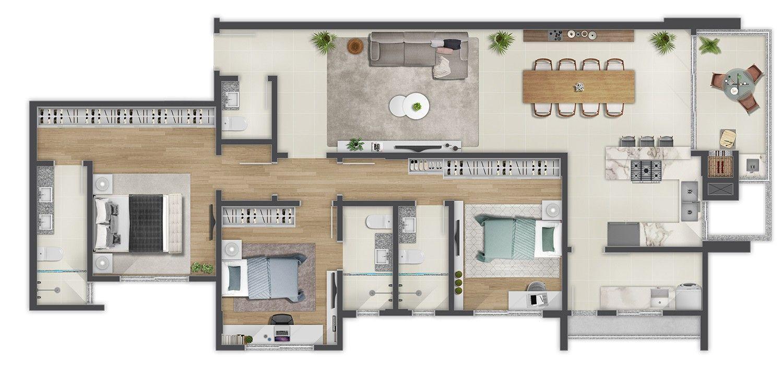 Edifício Douro Planta Apartamento Tipo 03