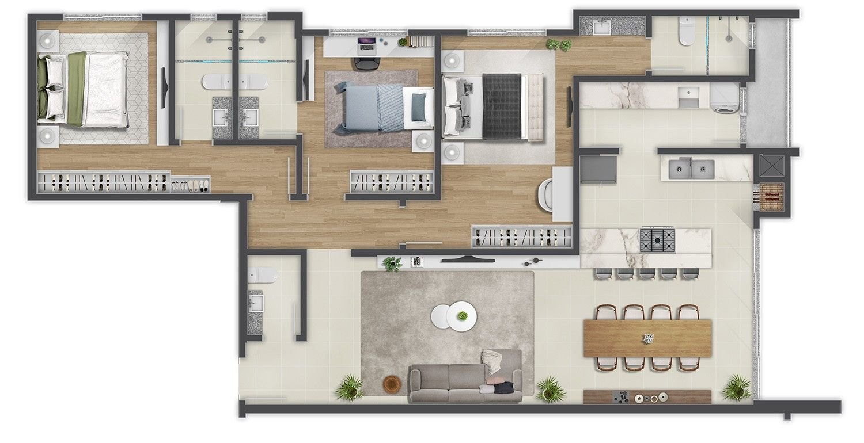 Edifício Douro Planta Apartamento Tipo