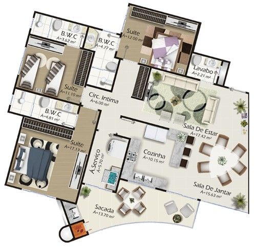 Edifício Tâmisa Planta Apartamento