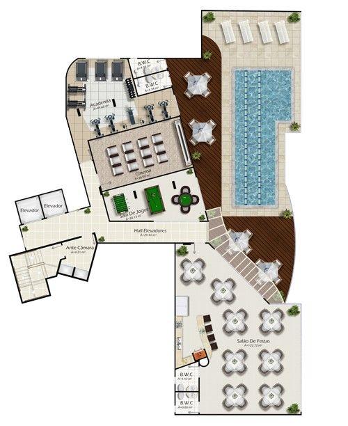 Edifício Tâmisa Planta área de Lazer